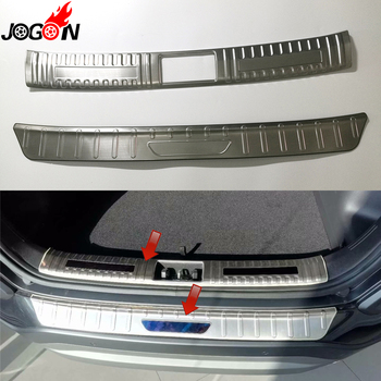 Para Hyundai Kona skauai Encino 2018 coche estilo Interior Exterior maletero puerta trasera Sill Placa de parachoques cubierta protectora ¡! de acero