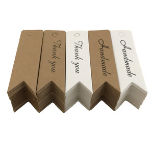 Image 2 - 100Pcs Kraft Papier Ornament Label Prijs Tags Wedding Christmas Party Favor Gift Card Goederen Bagage Tags Verpakking Labels