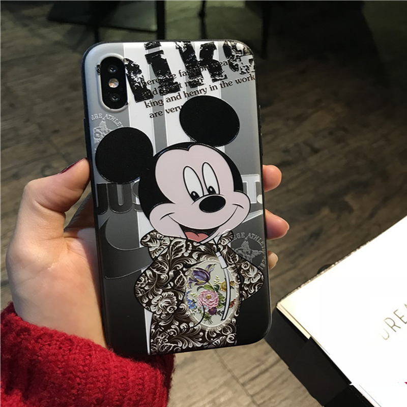 3D Embossed  Minnie Case For Huawei Mate 10 20 P10 P20 Lite Pro For Honor 8X 6A 9 10 Lite For iPhone XS Max X XR 6 7 8 Plus Case 3