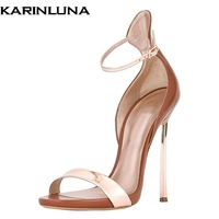 Karinluna 2019 plus size 45 brand design party women Shoes Woman sexy thin high heels women summer stiletto ankle strap sandals