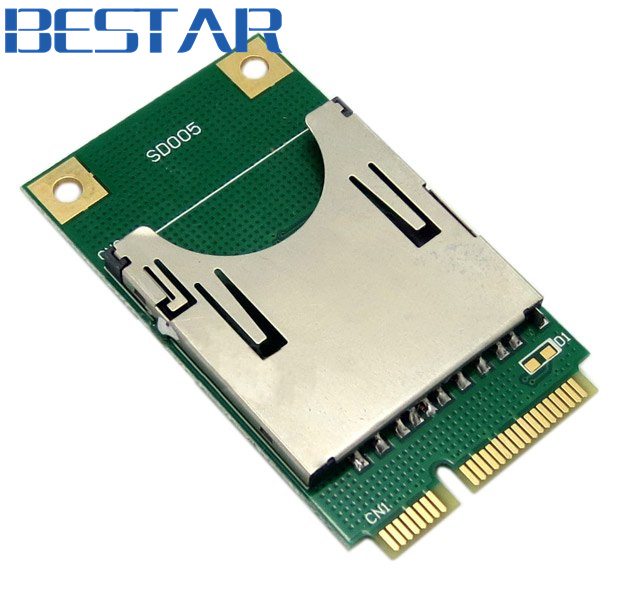 Mini PCI-E Express pcie pci express pci-express to SD SDHC MMC Memory adapter Card Converter Reader pci