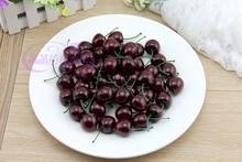 лучшая цена Small cherry plastic cherry maroon cherry props
