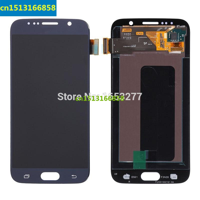 OEM LCD Screen and Digitizer Assembly for Samsung Galaxy S6 SM-G920 - Dark Blue/gold/white
