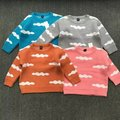 2017 spring and autumn children knitted sweater baby sweater cartoon clouds cute girls and boys thick warm sweater