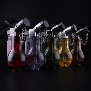 Image 2 - Компактная Бутановая струйная зажигалка, турбозажигалка, ветрозащитная распылительная Зажигалка 1300 с, без газа, бутылка для вина