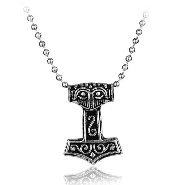 Rongji Jewelry Norse Viking Thor Hammer Of Revenge Alliance Mens