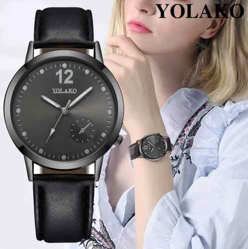 Yolako fashion brand Watch Women's Luxury Leather Casual Analog Quartz Watch Women Watch Female Relogio dropshipping montre