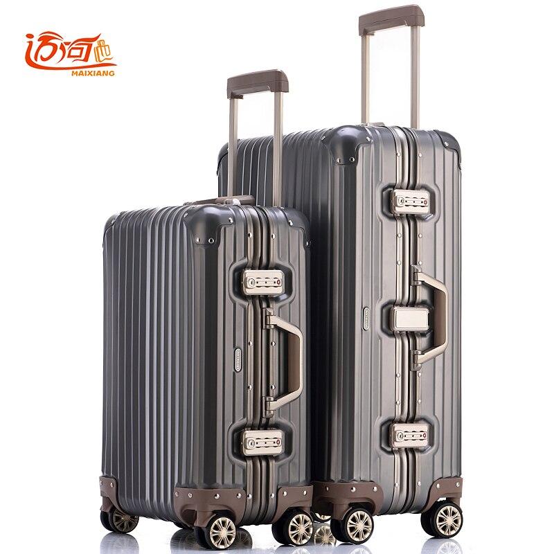 100% Voll Aluminium-magnesium-legierung Koffers Wagen Koffers 20/25 Zoll Aluminium Koffer Für Frau Und Mann Handgepäck ZuverläSsige Leistung