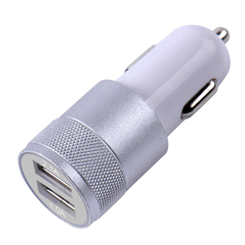 المزدوج USB سيارة مهايئ شاحن 3.1A السيارات سيارة معدنية شاحن هاتف ذكي/قرص