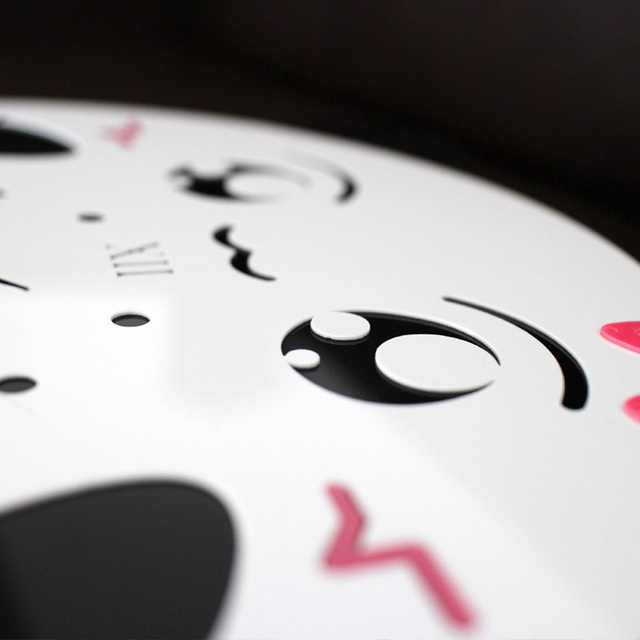 Creative Cartoon Cute Panda Acrylic Mute Wall Clock For Kids Bedroom/ Living Room/ Kitchen Best Christmas Gifts