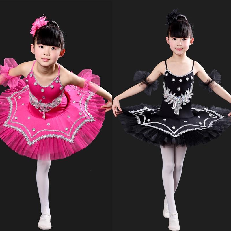 Hot Girls Ballroom dance costumes kids Ballet Dance Tutu Swan Lake Dancing Dress