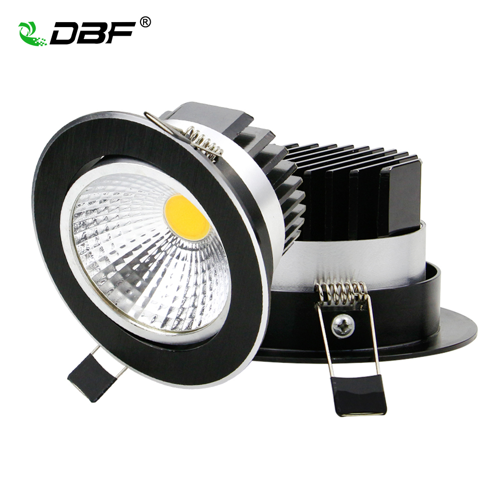 Super Bright Dimmable LED Downlight COB 5W 7W 9W 12W LED Ceiling Recessed Lights Black Spot Light Indoor down lamp Lighting super bright e26 e27 9w 12w 18w par20 par30 par38 waterproof ip65 dimmable led spot light bulb lamp indoor lighting ac85 265v