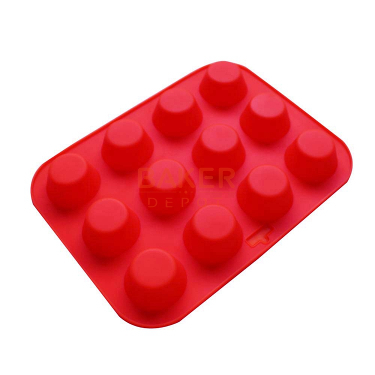 DIY silicone Cake mould 12 round silicone muffin cupcake molds Jello pudding heat resistant CDSM 152