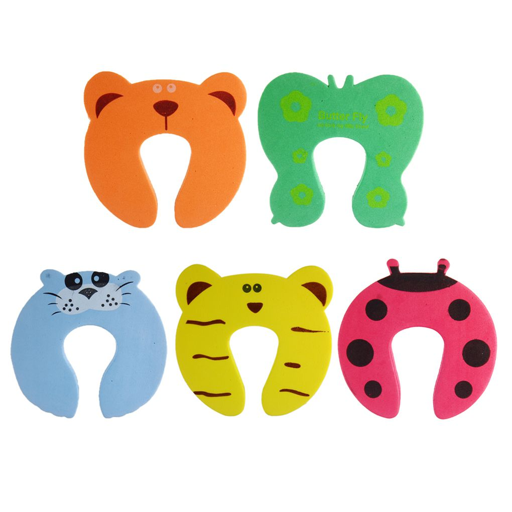 5Pcs/Set Child Safety Protection Cartoon Animal Random Color Baby Children Safety Guard Foam Door Stopper Cushion