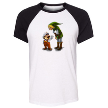 Cotton T-shirts Men Short Sleeves Funny cartoon Super Mario and The Legend of Zelda Link Design Top Tees Fashion Casual T-shirt