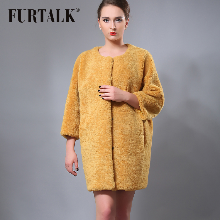 Aliexpress.com : Buy FURTALK new design 80cm long pink trench lamb ...