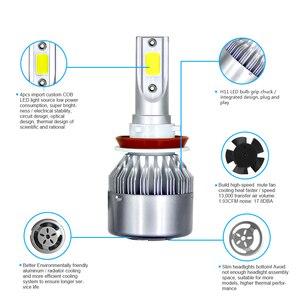 Image 5 - JAEHEV سيارة أضواء لمبات LED H4 H7 9003 HB2 H11 LED H1 H3 H8 H9 880 9005 9006 H13 9004 9007 السيارات المصابيح الأمامية 12 V مصباح ليد
