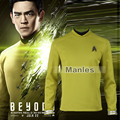 Star Trek Beyond Sulu Cosplay Costume Star Trek Uniform Adult Men Halloween Cosplay Costume Exotic apparel Custom Made