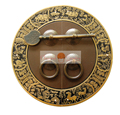 Antique 14 cm Furniture Brass Hardware Door Latch Plate Handle Pull Knocker Chinese zodiac