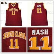 d931dba79 2018 ECTIC Mens College Basketball Jerseys 11 Steve Nash Santa Clara Retro  Stitched