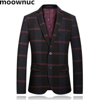 NEW Fashion Blazers masculina 2018 mens suit Striped blazer jackets slim fit Casual coats Homme plus size S 3XL 2018 1 1915