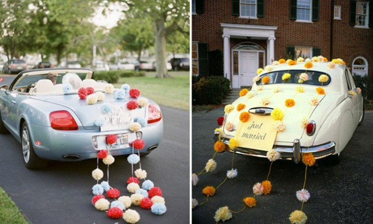 20 Cm Tissue Paper Pom Poms Flower Ball Wedding Decoration Wedding Car Decoreation Free Shipping