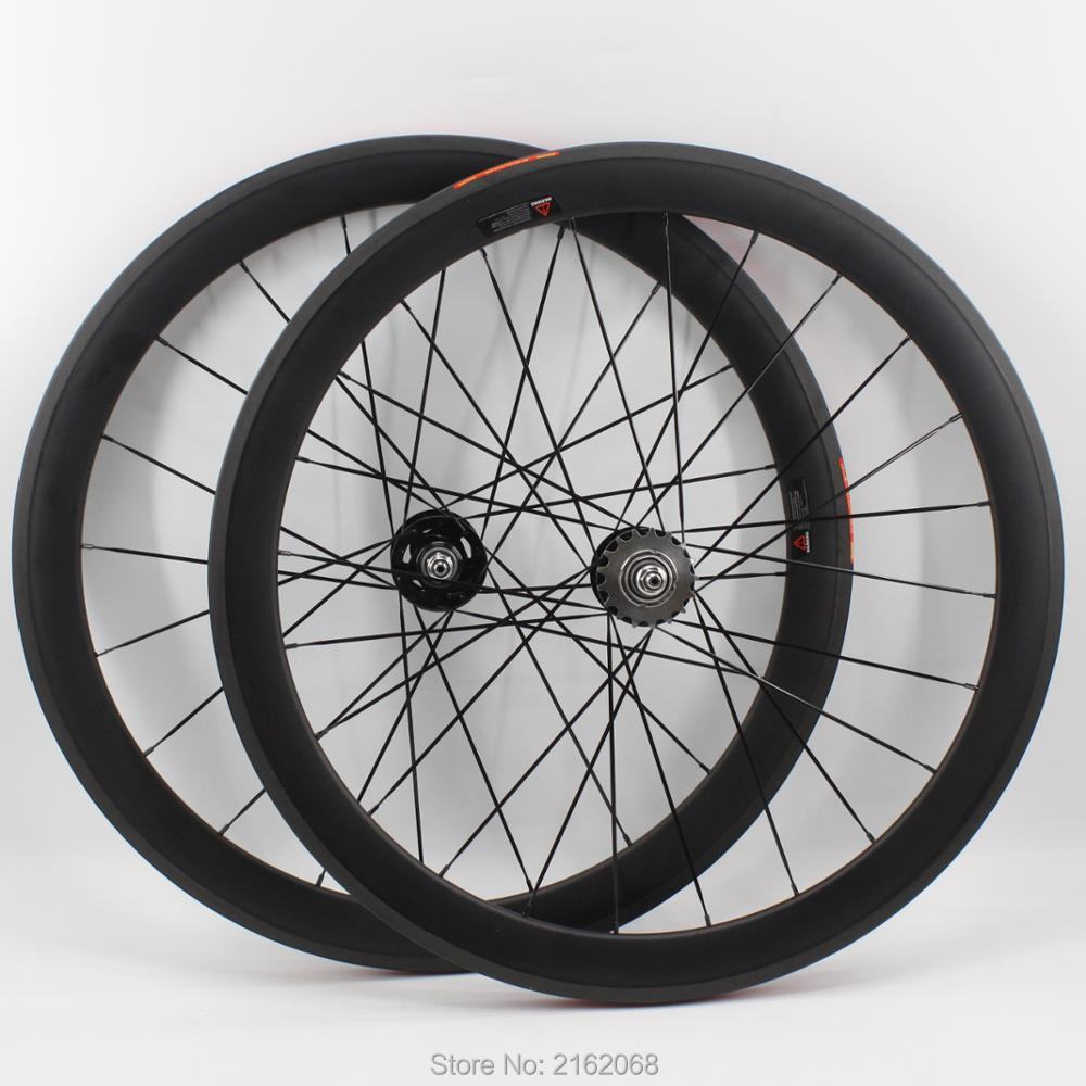 1pair Newest 700C 50mm tubular rim Track Fixed gear bicycle matt UD full carbon fibre bike wheelset 20.5 23 25mm width Free ship 2017 newest road bicycle t800 matt ud full carbon fibre bike handlebar and stem integratived with computer stent parts free ship