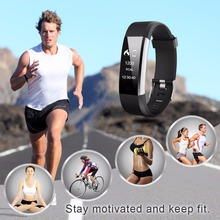 Pulsometer Heart Rate Monitor Fitness Bracelet Step Counter Smart Band