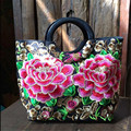 Yunnan ethnic wind canvas embroidered Vintage handbags embroidered ladies bags handbag