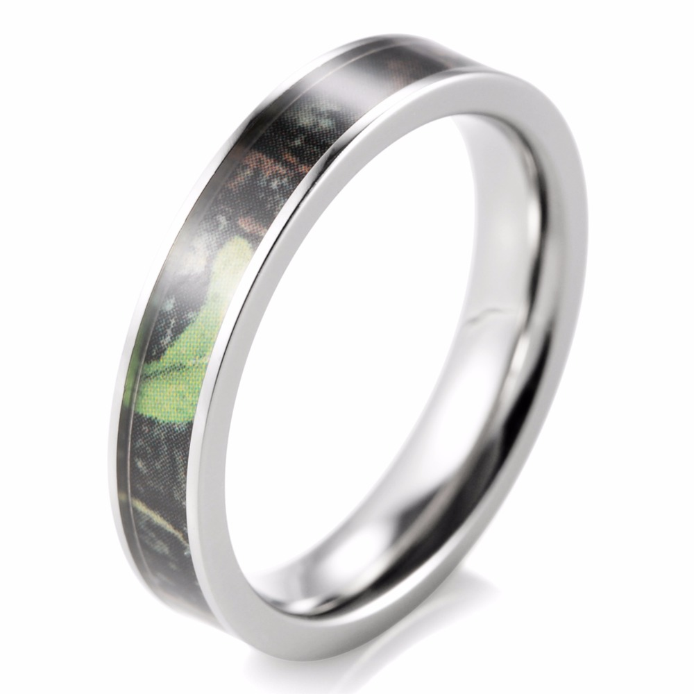shardon women green camo wedding ring titanium mossy tree camo anniversay wedding band anel anillos engagement - Womens Camo Wedding Rings