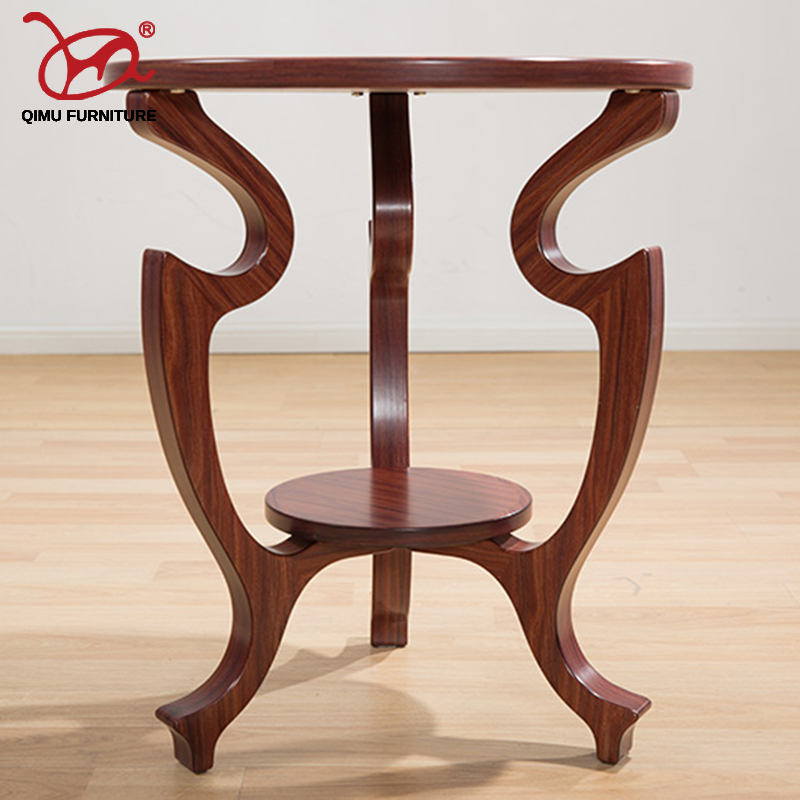 New adurable solid wood tea table Walnut round minimalist modern wooden end table home living room antique furniture M203 new high end s size lookback reindeer table wooden home furniture self build puzzle furniture