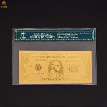 Kreatywna dekoracja do domu dostarcza nam pozłacane banknotów nowy 1 dolara pieniądze pozłacane fałszywe pieniądze kolekcja papieru tanie i dobre opinie Europa Patriotyzmu SMJY Banknote USA Currency 1 2 5 10 20 50 100 500 1000 5000 10000 Dollar As Real Size Copy Genuine Banknotes