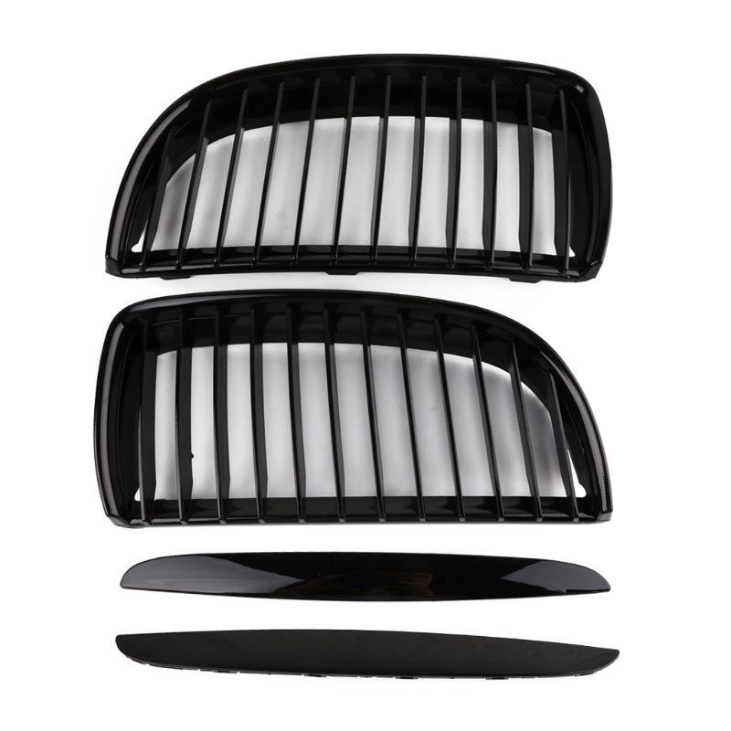 Kit de calandre d'admission d'air noir brillant une paire autocollant de décoration pour BMW série 3 E90