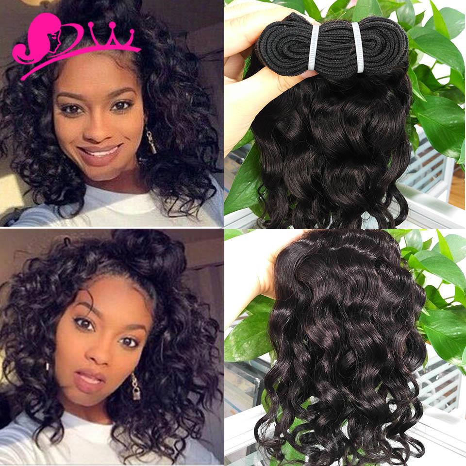 Malaysian Virgin Hair Natural Water Wave 3 Bundles Spanish Curly Human Weave Short Bob Curl On Aliexpress Alibaba