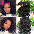 Malaysian Virgin Hair Natural Water Wave 3 Bundles Cheap Malaysian Spanish Curly Human Hair Weave Short Bob curl Malaysian Hair