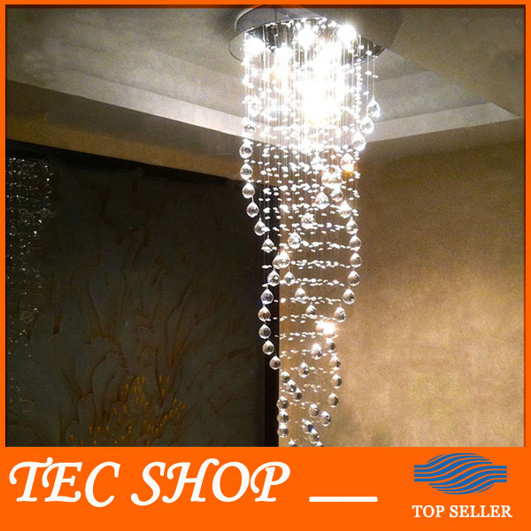 Best Price K9 Crystal Chandeliers Duplex Staircase Crystal Lights LED Ceiling Lamp Triple Spiral lustres de cristal pendentes best price rectangular crystal chandeliers k9 crystal ceiling lamp lighting fixtures restaurant led lighting e14 free shipping