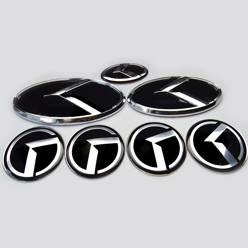 7x New Black Red K Logo Badge Emblem For Kia New Forte Yd K3 2014
