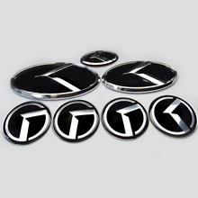 7x new black / red K logo badge emblem for KIA new Forte YD K3 2014 2015/car emblems/3D sticker k5 K Logo Hood Trunk Steering