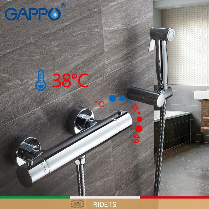 GAPPO Bidets thermostatic hygienic shower bidet chrome muslim shower bidet mixer anal cleaning bidet toilet faucet