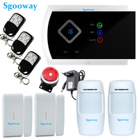 Sgooway Smarts GSM Alarm Systems Android IOS APP Alarms Home Security System free shipping