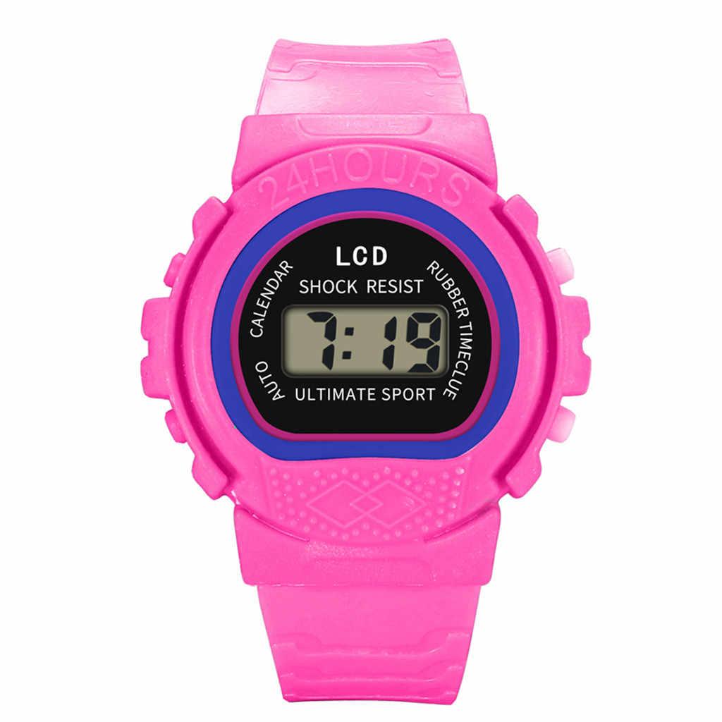 Montre ランファン子供ガールズアナログデジタルスポーツ Led 電子防水腕時計新子供の watchrelogio infantil 男性