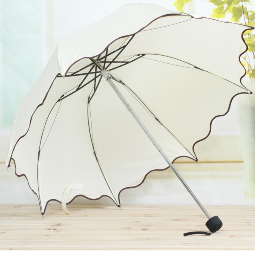 Женский складной зонт US001, милый складной зонт в Корейском стиле для дождливой погоды розового, синего, красного цветов, складной зонтик для девочек Зонтики    АлиЭкспресс