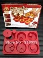 Cupcake segredo Silicone Bakeware Set fabricante queque molde rosquinha ferramentas bolo cholocate segredo-frete grátis