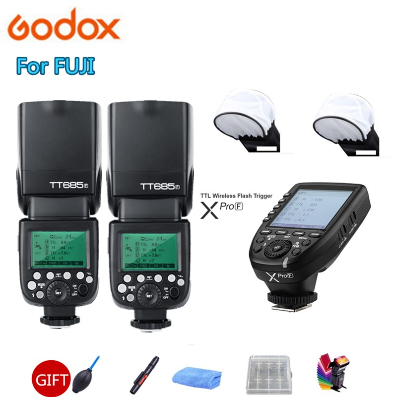 2 Godox TT685F TT685 Flash Speedlite 2 4G HSS 1 8000s TTL GN60 Wireless Speedlite Xpro