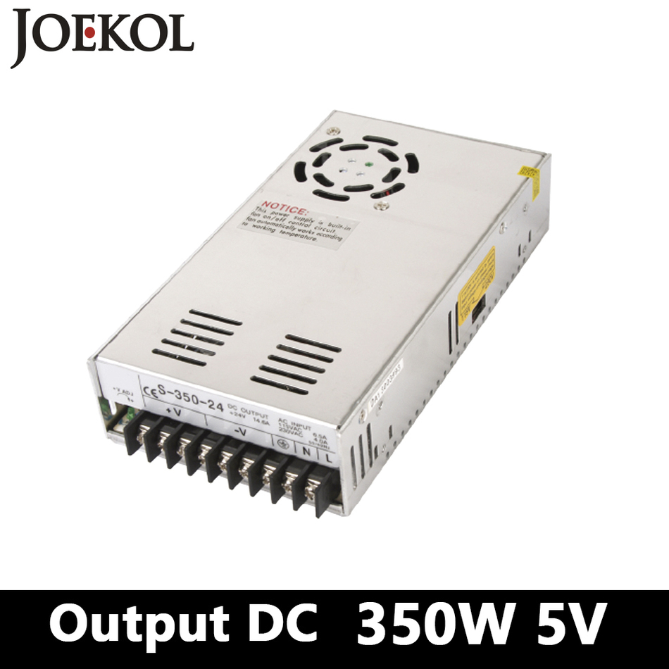 Switching Power Supply,350W 5v 70A Single Output Ac-dc Power Supply For Led Strip,AC110V/220V Transformer To DC 5V,led Driver