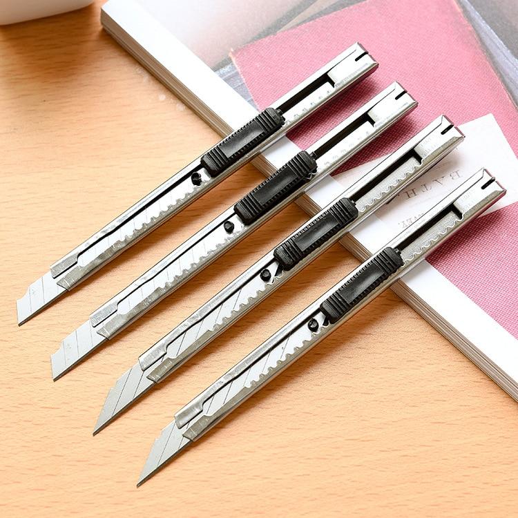 Metal Utility Knife Stationery Paper Cutter School Supplies Giraffe Bisturi Material Escolar Box Cutter Craft Knife Taglierina