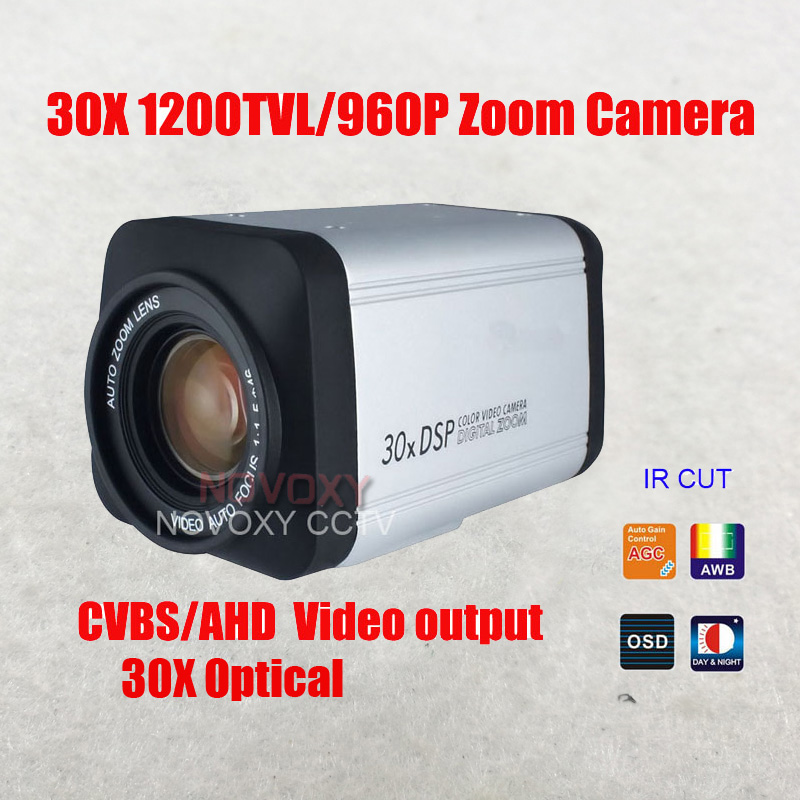 NOVOXY 1/3 Inch CMOS 1200TVL 960P 1.3MP 30x Optical 3.0 90mm Vari focal Lens CCTV Zoom Camera 1200TVL Security Integrated Camera-in Surveillance Cameras from Security & Protection    1