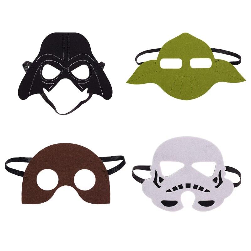 1PC Star Wars Darth Vader Yoda commando Chewbacca Superhero Halloween Costumes Cosplay Mask Kids Birthday Party DIY C-3PO 2018