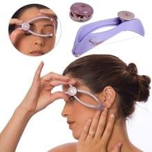Мини-размер, женский эпилятор, средство для удаления волос на лице, Весенняя резьба, эпилятор для лица, Defeatherer, сделай сам, макияж, инструмент для красоты, щек, бровей