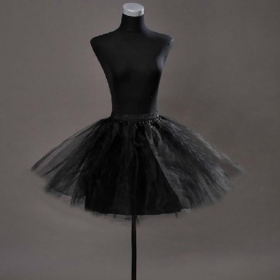 Wedding Accessories 2019 New Tulle Black White Adult Woman Petticoat Girls Petticoat Short Cheap Ball Gown Stock Crinoline